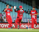 Spinner Aaron O'Brien picked up three wickets in a tidy spell, Sydney Thunder v Melbourne Renegades, BBL 2012-13, Sydney, December 14, 2012