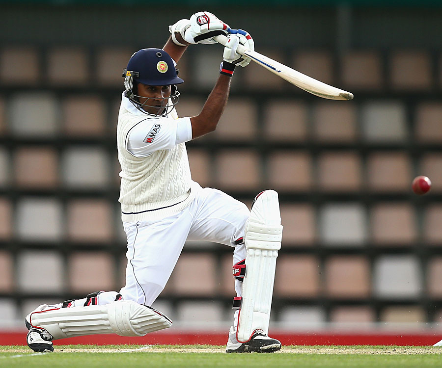 Mahela Jayawardene plays a cover drive