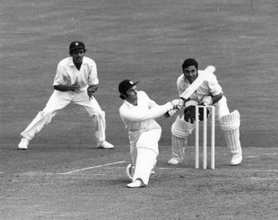 Alan Knott bats, England v India, third Test, The Oval, August 19, 1971