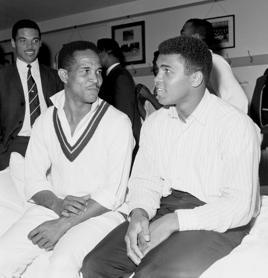 Class of '66: Sobie and Ali compare notes at Lord's