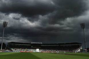 Dark clouds hover over the Bellerive Oval, Australia v Sri Lanka, 1st Test, Hobart, 3rd day, December 16, 2012