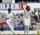 Ishant Sharma appeals unsuccessfully for the wicket of Alastair Cook