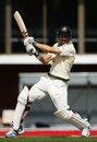 Ed Cowan cuts on his way to a half-century