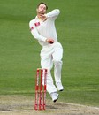 Matthew Wade bowls his first over in first-class cricket