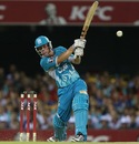 Chris Lynn blasts one through the off side, Brisbane Heat v Perth Scorchers, Big Bash League, December 18, 2012