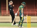 Lea Tahuhu celebrates Leah Poulton's wicket, Australia v New Zealand, 4th Women's ODI, North Sydney Oval, Sydney, December 19, 2012