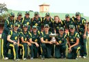 The Australia Women's team with the Rose Bowl, Australia v New Zealand, 4th Women's ODI, North Sydney Oval, Sydney, December 19, 2012