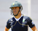 Faf du Plessis takes part in a nets session