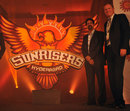 Sunrisers Hyderabad's mentor Kris Srikkanth and coach Tom Moody at the IPL franchise's logo launch, December 20, 2012