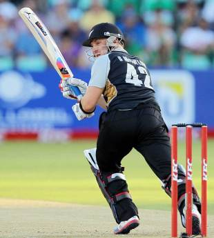 Brendon McCullum clips one through the leg side, South Africa v New Zealand, 1st Twenty20 international, Durban, December 21, 2012