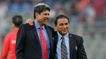 Kapil Dev and Sunil Gavaskar share a joke