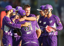 Xavier Doherty claimed a hat-trick, Hobart Hurricanes v Sydney Thunder, Big Bash League, Hobart, December 23, 2012