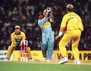 Sachin Tendulkar attacks Shane Warne, India v Australia, World Cup, Mumbai, February 27, 1996