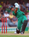 Henry Davids drives during his 55, South Africa v New Zealand, 2nd T20, East London, December 23, 2012