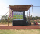The electronic scoreboard at the Hubli stadium