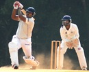 Mukul Dagar plays an aggressive shot during his knock of 65, Tamil Nadu v Uttar Pradesh, Ranji Trophy, Group B, Chennai, 3rd day, December 24, 2012