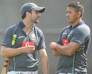 Ed Cowan and Usman Khawaja during training