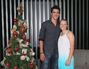 Mitchell Starc with his girlfriend, Australia Women cricketer Alyssa Healy, Melbourne, December 25, 2012