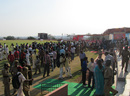 The Hubli crowd outside the dressing rooms, Karnataka v Haryana, Ranji Trophy, Group B, Hubli, 4th day, December 25, 2012