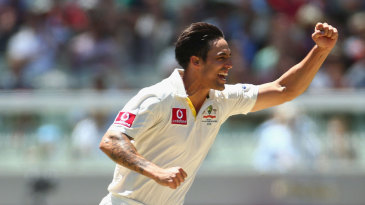 Mitchell Johnson was the most successful of the Australia bowlers, with four wickets