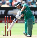 Justin Ontong drives one through cover, South Africa v New Zealand, 3rd T20, Port Elizabeth, December 26, 2012