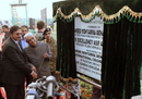 Pakistan president Asif Ali Zardari inaugurates the Shaheed Mohtarama Benazir Bhutto International Cricket Stadium, Garhi Khuda Bakhsh, December 26, 2012