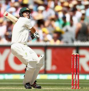 Shane Watson made 83, Australia v Sri Lanka, 2nd Test, Melbourne, 2nd day, December 27, 2012