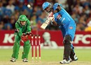 Kieron Pollard hits over the top, Adelaide Strikers v Melbourne Stars, Big Bash League, Adelaide, December 27, 2012