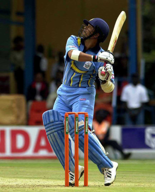 Sachin Tendulkar hits Glenn McGrath for a six, Australia v India, ICC KnockOut, quarter-final, Nairobi, October 7, 2000