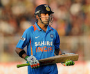 Gautam Gambhir was dismissed after scoring a quick 21