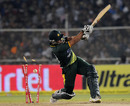 Umar Akmal misses a slower ball and is bowled, India v Pakistan, 2nd Twenty20, Ahmedabad, December 28, 2012
