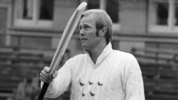 Tony Greig at a Sussex training session