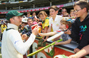 Michael Clarke signs autographs for kids, Australia v Sri Lanka, 2nd Test, Melbourne, 3rd day, December 28, 2012