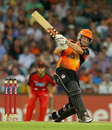 Shaun Marsh goes over the top during his 85, Perth Scorchers v Melbourne Renegades, BBL, Perth, December 29, 2012