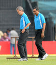 Umpires Billy Bowden and S Ravi inspect the conditions, India v Pakistan, 1st ODI, Chennai, December 30, 2012