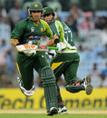 Misbah-ul-Haq and Nasir Jamshed run between the wickets, India v Pakistan, 1st ODI, Chennai, December 30, 2012