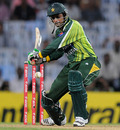 Shoaib Malik struck a 56-run stand with Nasir Jamshed to guide Pakistan to win, India v Pakistan, 1st ODI, Chennai, December 30, 2012