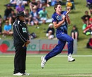 Jacob Duffy leaps on his delivery stride, Otago v Auckland, HRV Cup 2012-13, Queenstown, December 31, 2012