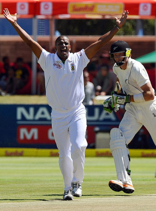 Vernon Philander took five wickets in the first five overs he bowled, South Africa v New Zealand, 1st Test, Cape Town, 1st day, January 2, 2013