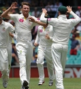 Jackson Bird celebrates a wicket, Australia v Sri Lanka, 3rd Test, Sydney, 1st day, January 3, 2013