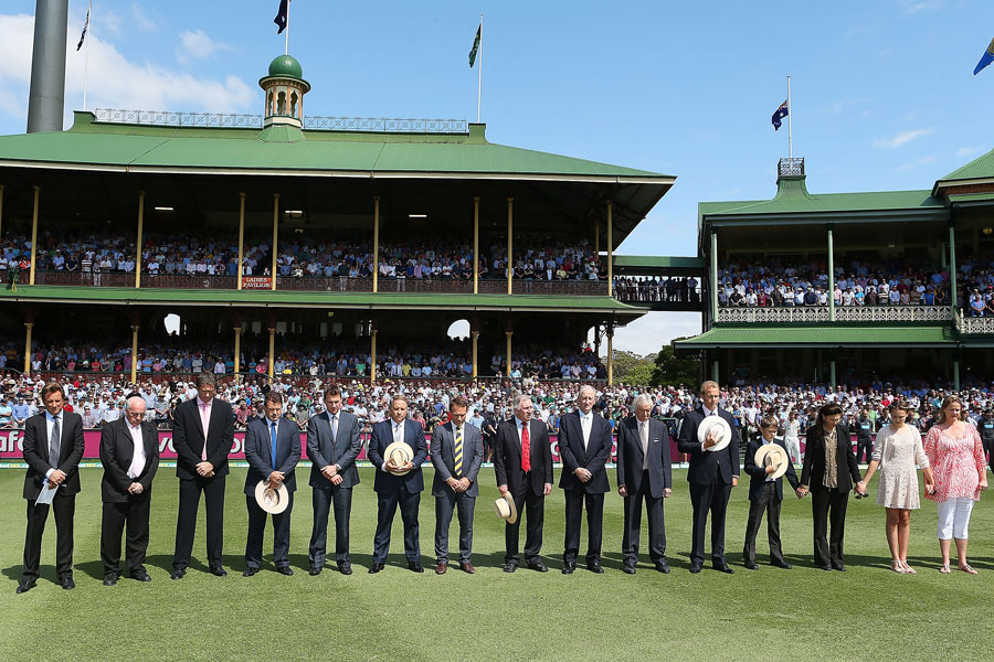 A minute's silence in memory of Tony Greig at the SCG