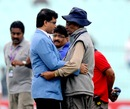 Sourav Ganguly and Eden Gardens pitch curator Prabir Mukherjee