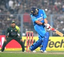 Yuvraj Singh takes his eyes off a bouncer