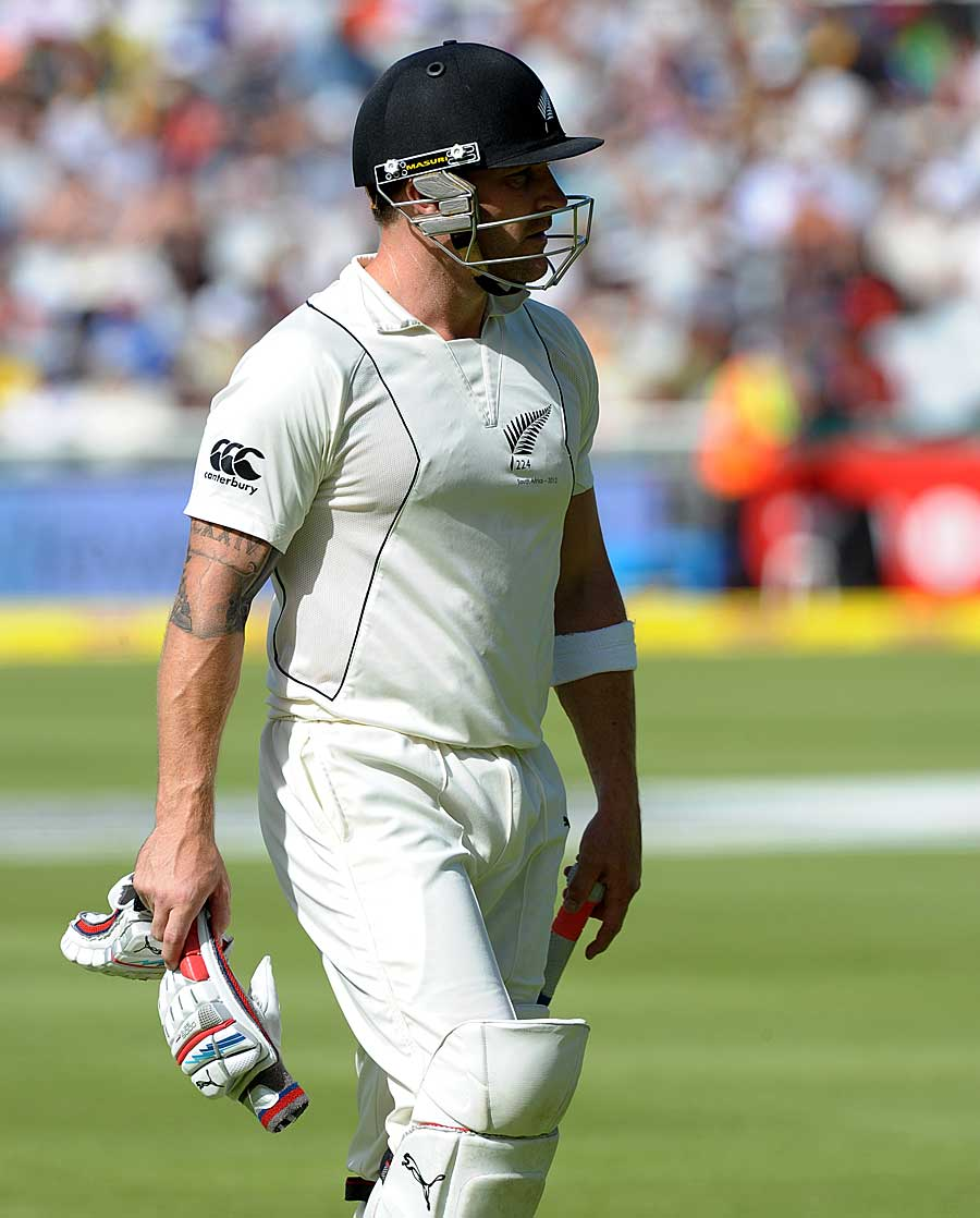 Brendon McCullum fell for 51