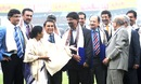 Former India and Pakistan players were felicitated