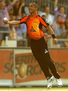Alfonso Thomas is thrilled after taking a catch, Perth Scorchers v Sydney Thunder, Big Bash League, Perth, January 4, 2013
