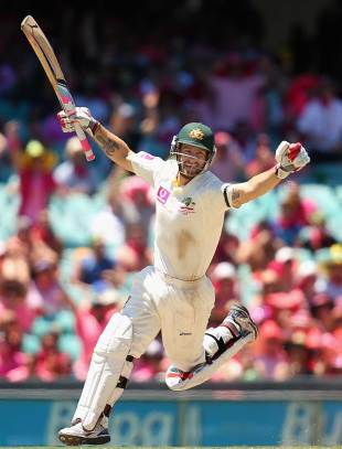 Matthew Wade struck his second Test ton and his first at home