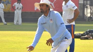 Mohammad Kaif, the UP captain, during a practice session