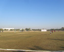 The playing field at the Saurashtra University Ground, Rajkot, January 6, 2013