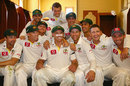 Michael Hussey is the center of attention in the dressing room, Australia v Sri Lanka, 3rd Test, Sydney, 4th day, January 6, 2013